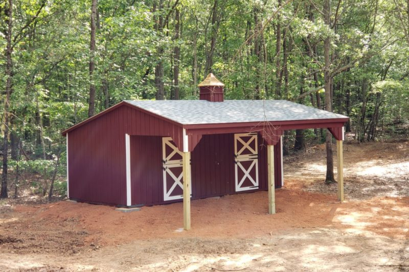 lean to sheds in johnson city