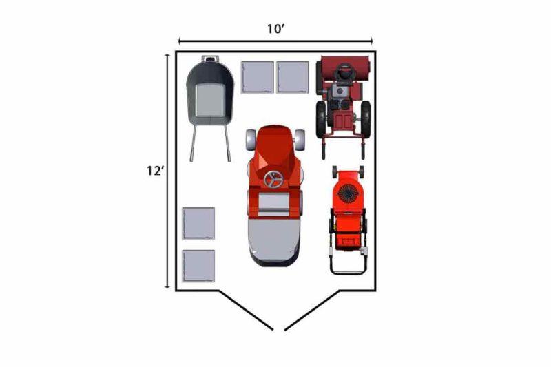 10x12 shed storage floor plan sc