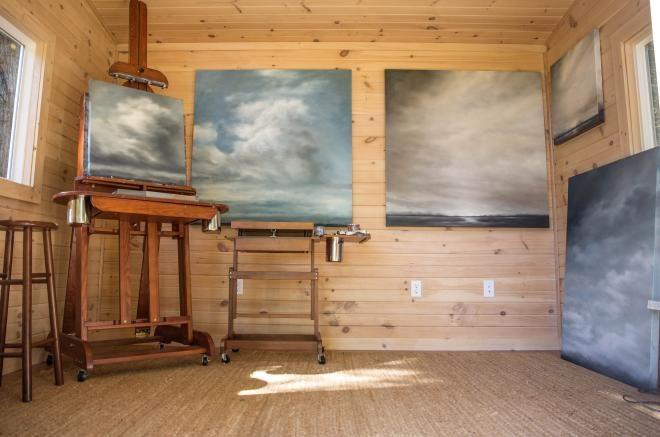 art studio in a 10x12 shed