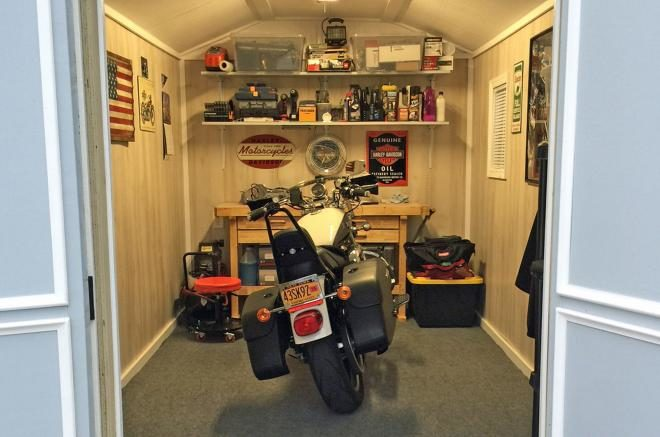 10x12 man cave motorcycle shed