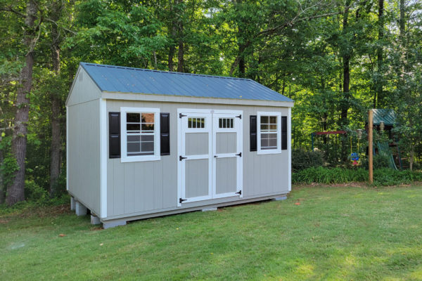 classic workshop shed with shutters