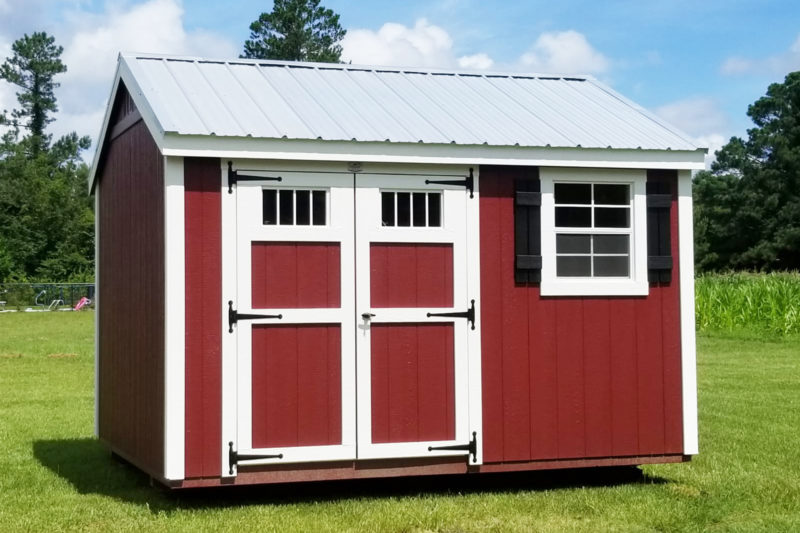 red classic workshop shed for sale