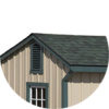 Architectural Shingle Roof lean to horse barn