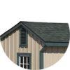 Architectural Shingle Roof run in horse barn