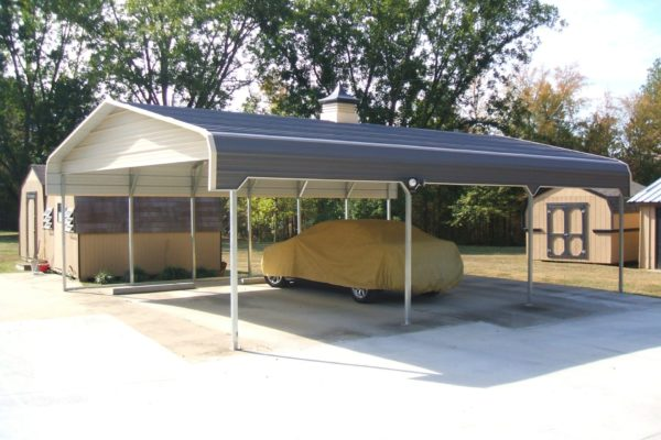 standard carports with side entry